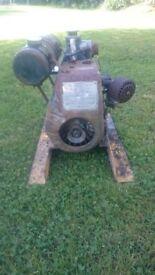 vintage villiers engine powered alcon water pump dirty waterpump 4 stroke working order