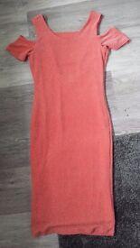 Miss Selfridge cold shoulder dress size 10