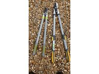 2 sets of loppers, 1 extendable
