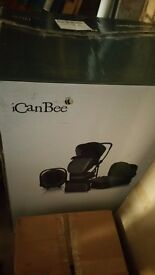 Kiddicare icanbee complete travel system, pushchair etc