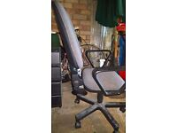 Office Swivel Chair with arms, Grey/Black, Good Condition, £25
