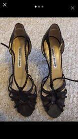 Manolo Blahnik heels chocolate brown size 37.5