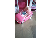 Barbie car with doll