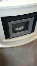 Modern electric fire and surround