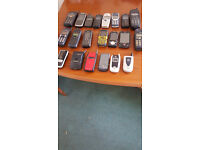 variety of old mobile phones