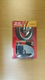MOTORCYCLE, MOTORBIKE, SCOOTER DISC LOCK WITH LOCK