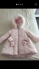 Girls Pink Bimbalo Coat