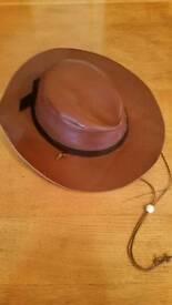 Brown Leather Australian Bush Hat