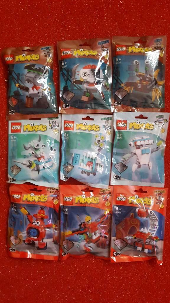 BNIB retired full complete set x 9 lego mixels series 8 sealed