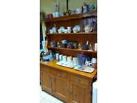 Pine effect dresser unit - kitchen (accessories not included)