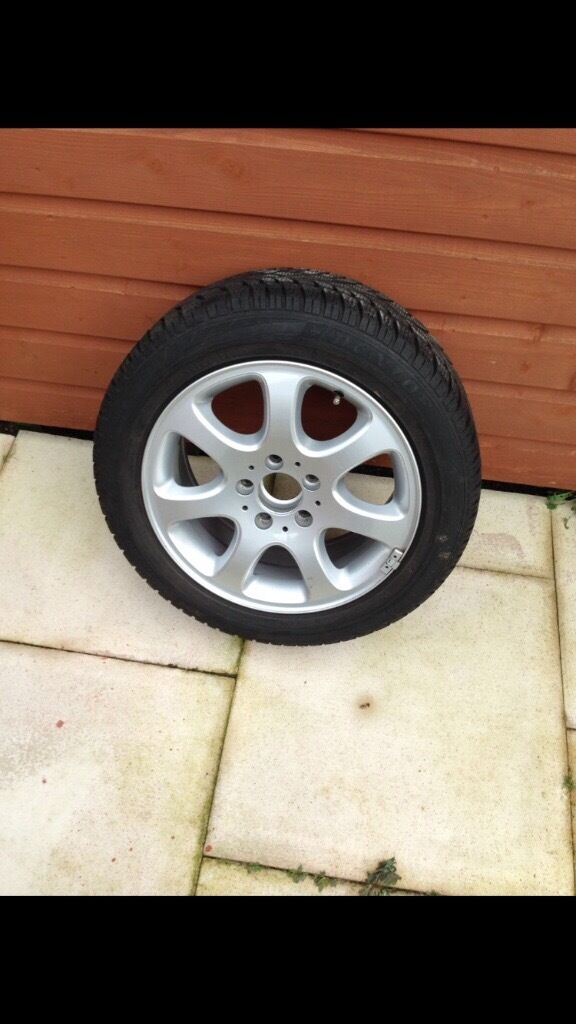 Set of 4 Genuine Mercedes Alloy Wheels with Winter Tyres