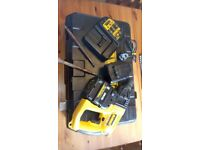 Used Dewalt DW005 cordless 24v SDS 3 action drill set,. GWO. see photos & details