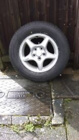 205*70*R16 car tyre and wheel brand new and unused