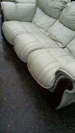 3 & 1 seater leater sofas for sale