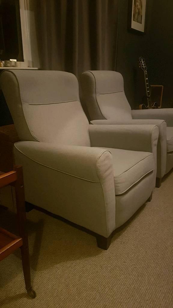 Pair of Reclining armchairs IKEA