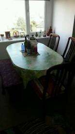 Mahogany Effect Dining Table