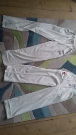 Cricket clothes, equipment & bag for age 7 - 14