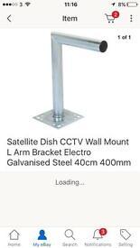 Satellite dish L bracket