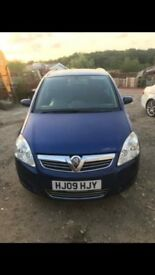 Blue Vauxhall zafira 7 seater excellent condition
