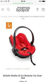 BeSafe Stokke iZi Go Modular - Red (ISOFIX BASE ALSO AVAILABLE-SEE MY OTHER ADD OR MAKE ME OFFER)