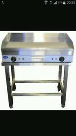 Flat grill griddle electric