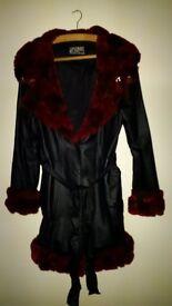 Retro LA Designer Coat, size 8 - rock chick chic!