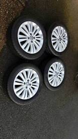 Alloy whells with tyres continental for corsa d