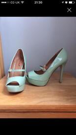 Mint Platform Heels