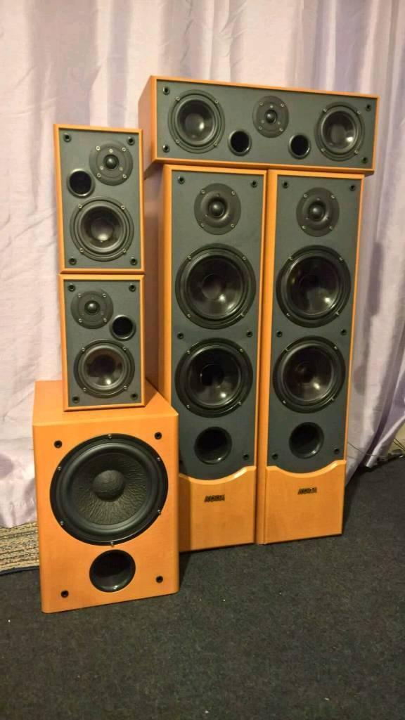 Home cinema yamaha rx v440rds 6 1 amplifier and koda 5 1 for Yamaha home stereo systems