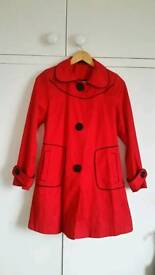 Red size 8 coat (New Look)
