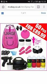 Complete mobile spray tanning incl tent,carry bag,gun, consumables,1 liter of solution