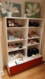 Large Bookshelf with base storage unit - £35