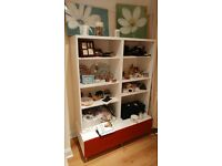 Large Bookshelf with base storage unit - £35