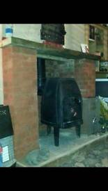 "Log burner 12"" flu"