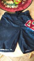 Found: Dark Grey Superman Swim Trunks