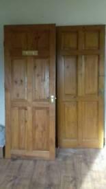 8x Solid pine 6 panel internal doors & 1x half decorative glazed (9 in total) £50 the lot.