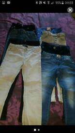 8 pairs Girls river Island next jeans 6-7