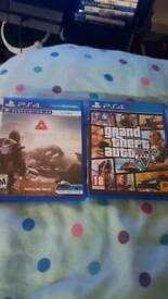 Grand theft auto 5 (gta5) and farpoint vr fpr the ps4