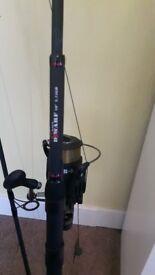 fishing rods + reels+rod bags.