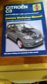 Citreon C3 Haynes manual 2002 to 2009