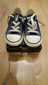 Blue converse children's size 10