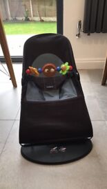 Baby Bjorn Baby Bouncer with wooden toy, very good condition from smoke and pet free home.