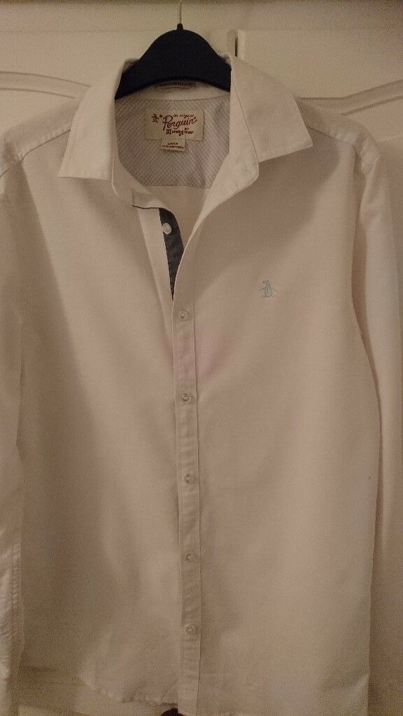 Very good condition mens original penguin shirt heritage slim fit size small