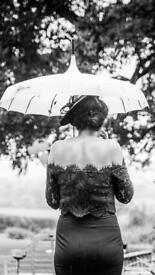 Wedding day umbrella