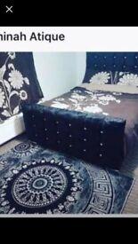velvet double bed frame