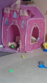 Girls Play Castle Tent.