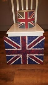 Boys bedroom - Dunelm Mill, Union Jack print canvas and ceiling shade
