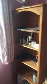 Solid pine bookshelf