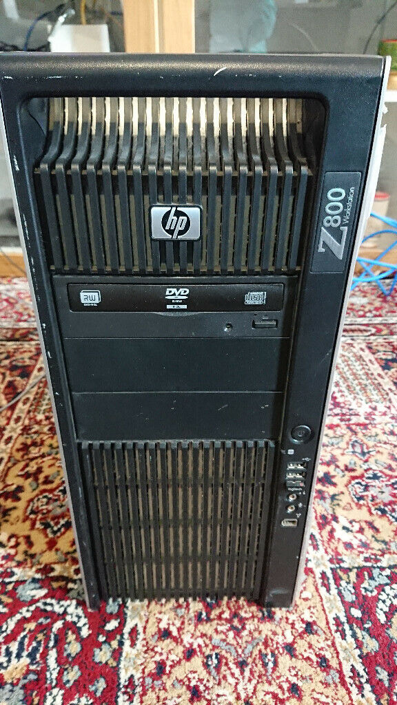 HP Z800 Workstation Server PC 4x 128GB SSD 64GB RAM 2x Intel Xeon X5550  2 66GHz AMD Radeon Win 10 | in Hackney, London | Gumtree