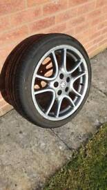Vauxhall Astra 2.2 irmscher alloy wheel with continental SC3 tyre 205/45/r17 lots of tread.